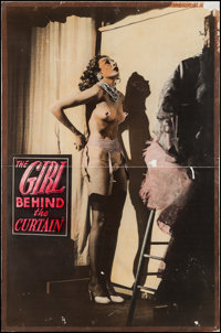 "The Girl Behind the Curtain (1940s). Poster (40"" X 60""). Sexploitation"
