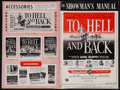 """Movie Posters:War, To Hell and Back (Universal International, 1955). Uncut Pressbook(20 Pages, 12"""" X 18""""). War.. ..."""