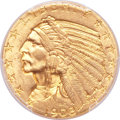 Indian Half Eagles, 1908 $5 MS64 PCGS....