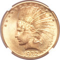 Indian Eagles, 1932 $10 MS65 ★ NGC....