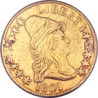 1801 $10 -- Mount Removed -- NCS. XF Details. BD-2, R.2....(PCGS# 8564)