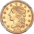 Classic Quarter Eagles, 1839-O $2 1/2 -- Medallic Alignment -- AU53 NGC. Breen-6153, Variety 28, R.4....