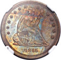 Patterns, 1865 25C Quarter Dollar, Judd-426, Pollock-498, R.6, PR64 Red and Brown NGC....
