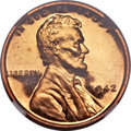 Proof Lincoln Cents, 1942 1C PR67 Red Cameo NGC....