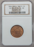 Two Cent Pieces, 1864 2C Small Motto MS64 Red NGC. FS-401....