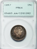 Proof Barber Quarters, 1897 25C PR64 PCGS....