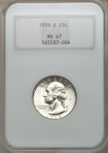 Washington Quarters, 1939-S 25C MS67 NGC....