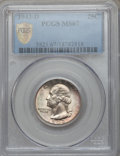 Washington Quarters, 1943-D 25C MS67 PCGS Secure....
