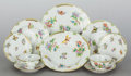 Ceramics & Porcelain, A HUNDRED PIECE HEREND QUEEN VICTORIA PATTERN PORCELAIN PARTIAL DINNER SERVICE . 20th century. Marks: HEREND, ... (Total: 100 Items)