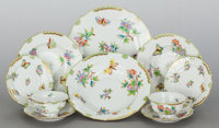 A HUNDRED PIECE HEREND QUEEN VICTORIA PATTERN PORCELAIN PARTIAL DINNER SERVICE 2
