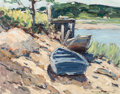 Fine Art - Painting, American:Modern  (1900 1949)  , WALTER FARNDON (American, 1876-1964). On the Shore. Oil onmasonite. 14 x 18 inches (35.6 x 45.7 cm). Signed lower right...