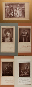 "Photography:Cabinet Photos, [Cabinet Portraiture]. Five (5) Photographs Featuring People inTheater Costumes. Taken from a series called ""The Theatre"" b..."