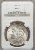 "Morgan Dollars, (4)1886 $1 MS63 NGC. The current Coin Dealer Newsletter (Greysheet)wholesale ""bid"" price is... (Total: 4 coins)"