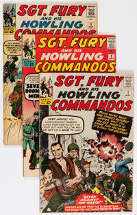 Sgt. Fury and His Howling Commandos #1-7 and 13 Group (Marvel, 1963-64) Condition: Average GD/VG.... (Total: 8 Comic Boo...