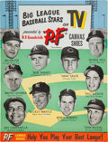 "Baseball Collectibles:Others, 1953-54 P.F. Flyers ""Big League Baseball Stars on TV"" Advertising Signs Lot of 2...."