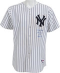 Baseball Collectibles:Uniforms, 2005 Derek Jeter First (and Only) Grand Slam Game Worn New YorkYankees Jersey....