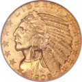 Indian Half Eagles, 1909-D $5 MS65 NGC....