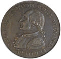 Colonials, 1792 1C Washington Born Virginia Cent, Inscribed Reverse MS62 BrownNGC. Baker-60, W-10730, R.5....