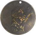 1820 TOKEN North West Company, Brass -- Holed -- Fine 12 PCGS. Breen-1083, W-9250
