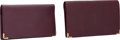 Luxury Accessories:Accessories, Cartier Set of Two; Burgundy Leather Wallet & Burgundy LeatherCheckbook Cover. ... (Total: 2 )