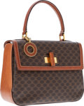 Luxury Accessories:Bags, Celine Brown Monogram Canvas Bag with Enamel Charm . ...