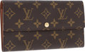 Luxury Accessories:Accessories, Louis Vuitton Classic Monogram Canvas Sarah Wallet. ...