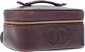 Luxury Accessories:Accessories, Chanel Burgundy Leather Rectangular Vanity Case. ...