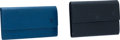 Luxury Accessories:Accessories, Louis Vuitton Set of 2: Black Epi Leather Trifold Wallet &Louis Vuitton Toledo Blue Epi Leather Wallet. ... (Total: 2 )