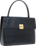 Luxury Accessories:Bags, Celine Black Leather Top Handle Bag. ...