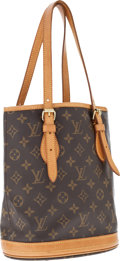 Luxury Accessories:Bags, Louis Vuitton Brown Classic Monogram Canvas Petit Bucket Bag . ...