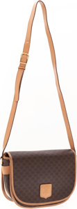 Luxury Accessories:Bags, Celine Classic Monogram Canvas Shoulder Bag with Natural LeatherTrim . ...