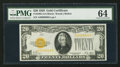 Small Size:Gold Certificates, Fr. 2402 $20 1928 Gold Certificate. PMG Choice Uncirculated 64.. ...