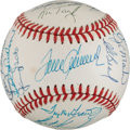 Baseball Collectibles:Balls, 1969 New York Mets Team Signed World Series Baseball (Reunion). ...