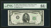 Fr. 1961-B* $5 1950 Wide I Federal Reserve Star Note. PMG Choice Uncirculated 64 EPQ