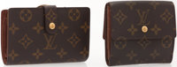 Louis Vuitton Set of Two; Monogrammed Canvas French Purse Wallet & Elise Wallet