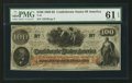 Confederate Notes:1862 Issues, T41 $100 1862. PF-26 Cr. UNL.. ...