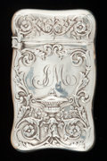 Silver Smalls:Match Safes, A GORHAM SILVER MATCH SAFE . Gorham Manufacturing Co., Providence,Rhode Island, 1893. Marks: (lion-anchor-G), STERLING, 1...