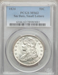 Bust Half Dollars, 1834 50C Small Date, Small Letters MS62 PCGS. O-114, R.1....