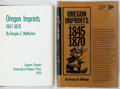 Books:Reference & Bibliography, [Oregon Printing]. Oregon Imprints. Included is DouglasMcMurtrie's original bibliography of books printed in Oregon...(Total: 2 Items)