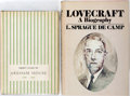 Books:Reference & Bibliography, [Science Fiction Reference]. Two Books, including a Lovecraftbiography by L. Sprague de Camp and a bibliography of Arkham H...(Total: 2 Items)
