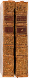 Books:Medicine, Guillaume Buchan. Medecine Domestique. Paris, 1780. Second edition. Two octavo volumes. Contemporary mottled cal... (Total: 2 Items)