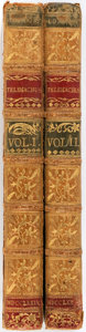 Books:Literature Pre-1900, Percival Proctor, M.A. The Adventures of Telemachus. London:Kearsly, 1774. Two octavo volumes. Full calf with gilt ... (Total:2 Items)