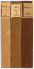 Books:Books about Books, [Books about Books]. A. Edward Newton. Three Related Titles,including A Magnificent Farce, The Amenities of Book-Collecti...(Total: 3 Items)
