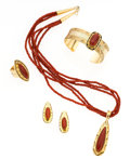 Estate Jewelry:Suites, Coral, Gold Jewelry Suite, Marie Thompson, Navajo. ... (Total: 4Items)