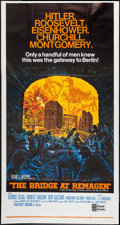 "Movie Posters:War, The Bridge at Remagen (United Artists, 1969). Three Sheet (41"" X 77""). War.. ..."