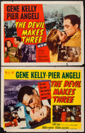 """Movie Posters:Thriller, The Devil Makes Three (MGM, 1952). Half Sheet (22"""" X 28"""") Styles A & B. Thriller.. ... (Total: 2 Items)"""