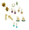 Estate Jewelry:Earrings, Multi-Stone, Gold Earrings. ... (Total: 7 Items)