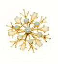 Estate Jewelry:Brooches - Pins, Diamond, Opal, Gold Brooch. ...