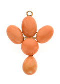 Estate Jewelry:Brooches - Pins, Antique Coral, Gold Pendant Brooch. ...