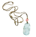 Estate Jewelry:Necklaces, Aquamarine, Pink Tourmaline, Seed Pearl, Cord Necklace. ...